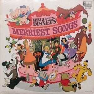 Walt Disney's Merriest Songs LP Record Vinyl